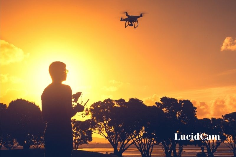 What distance can a drone fly away from its controller